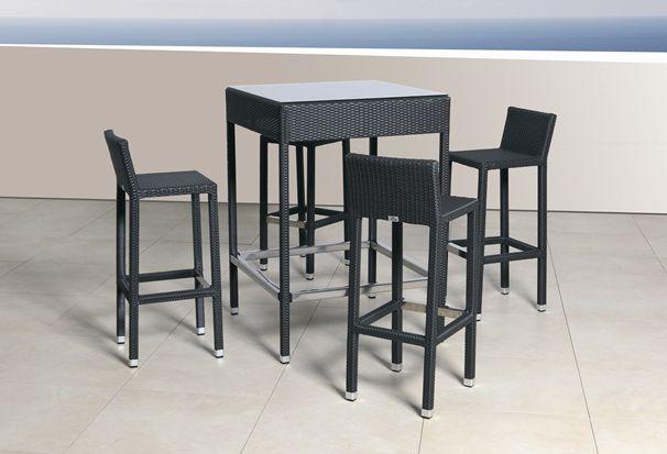 Miofiore arredamenti fibre sintetiche f tp 26 set bar - Tavoli alti da bar con sgabelli ...