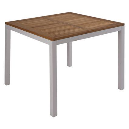 Miofiore arredamenti metalli e legno mod tavolo for Tavolo legno teak